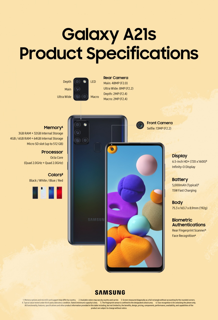 galaxya21s product specification